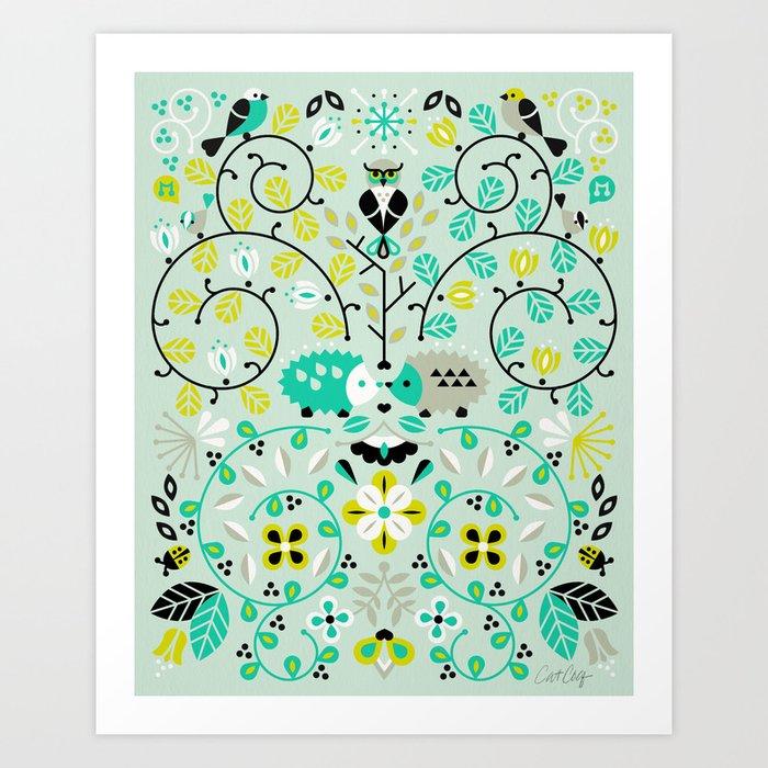 Hedgehog Lovers Art Print