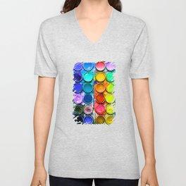Watercolor Art Palette Unisex V-Neck