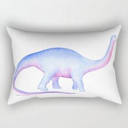 Apatosaurus Dinosaur Watercolor Rectangular Pillow