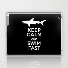 Keep Calm and Swim Fast Shark Laptop & iPad Skin