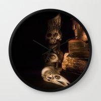 fullmetal alchemist Wall Clocks featuring The Alchemist by Ann Garrett