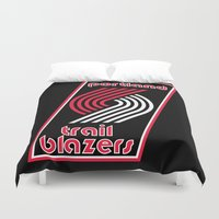 nba Duvet Covers featuring NBA - Trail Blazers by Katieb1013
