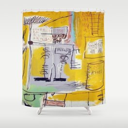Basquiat Ashes Shower Curtain