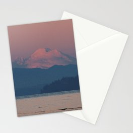 Sunset on Mount Baker Stationery Cards