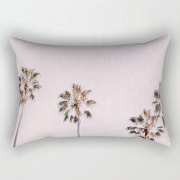 Blush Pink Palm Row No. 1 Rectangular Pillow