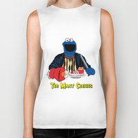 elmo Biker Tanks featuring Too Many Cookies by Shawn Hall Design