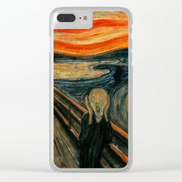 The Scream - Edvard Munch Clear iPhone Case