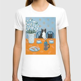 Cats and a French Press T-shirt