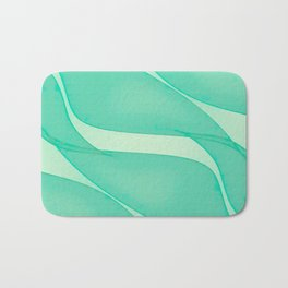 Abstract flowing ribbons in mint green Bath Mat
