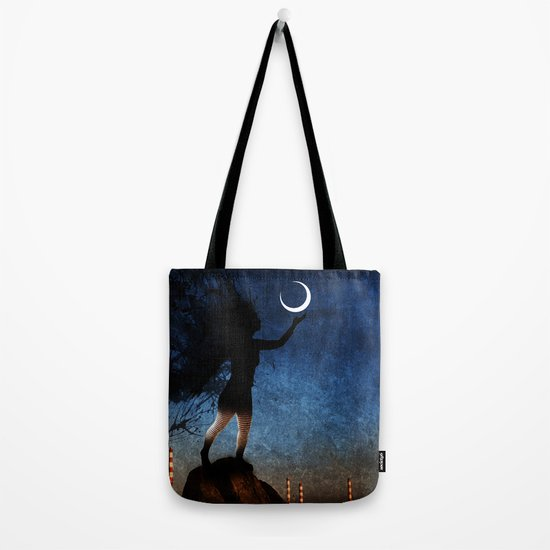 give the moon a little kiss for me Tote Bag