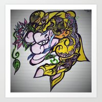 Fish MaN Art Print