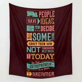 Lab No. 4 A Lot Of People Have Ideas Nolan Bushnell Motivational Quotes Wall Tapestry