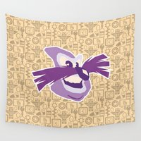 sonic Wall Tapestries featuring Robotnik - Sonic by Kuki