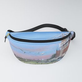 Cley Mill with boats Fanny Pack