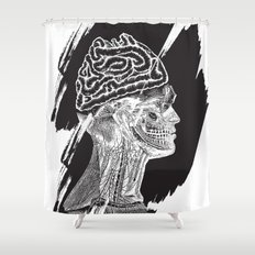 Wrong Brain Shower Curtain