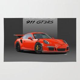 2016 Porsche 911 GT3 RS in Lava Orange Rug
