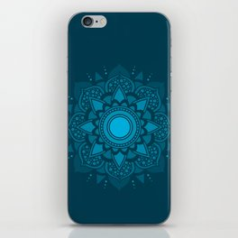 Blue Mandala #4 iPhone Skin
