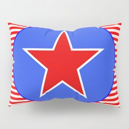 Patriotic Star in with Blue Pillow Sham