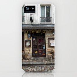 Cafe in Monmartre Paris iPhone Case