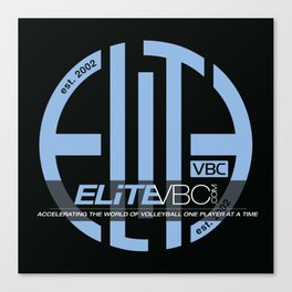 Elite Powder/Black w/ Badge Logo Canvas Print