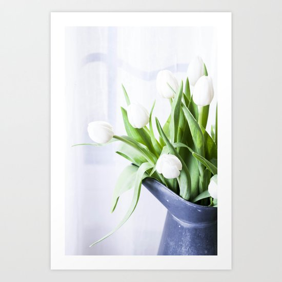 In The Window - Tulip Still Life Art Print