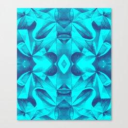 Turquoise Geometric Watercolor Canvas Print