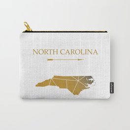 North Carolina In Gold Carry-All Pouch