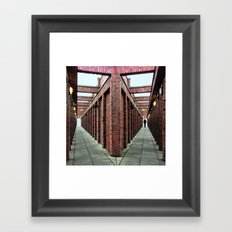 which side are you on? Framed Art Print