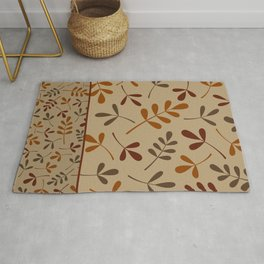 Fall Color Assorted Leaf Silhouettes II Rug