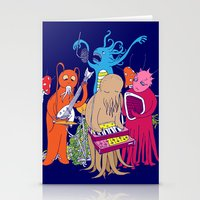 space jam Stationery Cards featuring Space Jam by Morbid Illusion