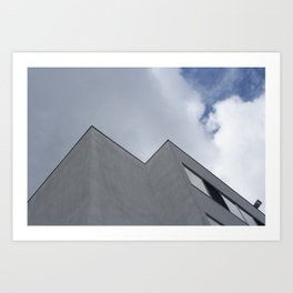 Trapped in the clouds Art Print