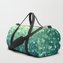 Spring Teal Green Sparkles Duffle Bag