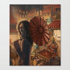 Downtown Oniopolis Market Canvas Print