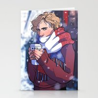 enjolras Stationery Cards featuring Winter Enjolras by rdjpwns