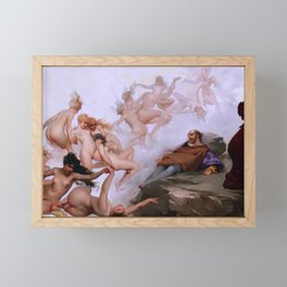 "Luis Ricardo Falero ""Faust's Dream"" Framed Mini Art Print"