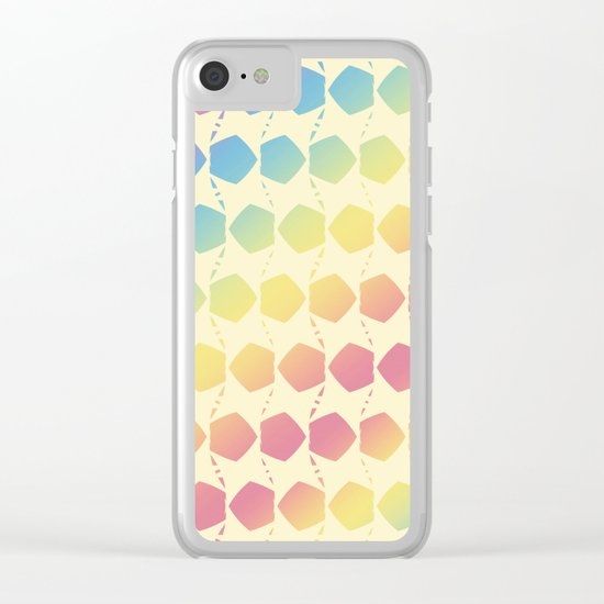 Fall Color Pattern Clear iPhone Case