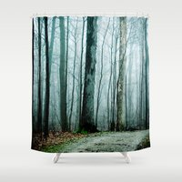 house stark Shower Curtains featuring Feel the Moment Slip Away by Olivia Joy StClaire