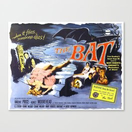 The Bat, vintage horror movie poster Canvas Print
