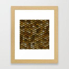 Gold Mermaid Scales Framed Art Print