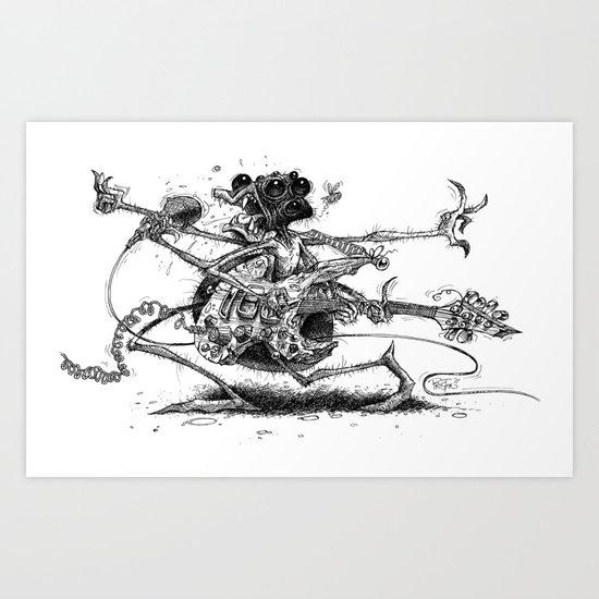 Guitah Spidah Art Print