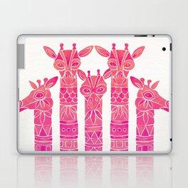 Giraffes – Pink Ombré Laptop & iPad Skin