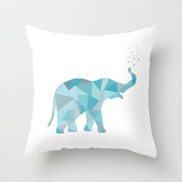 Origami Elelphant Throw Pillow