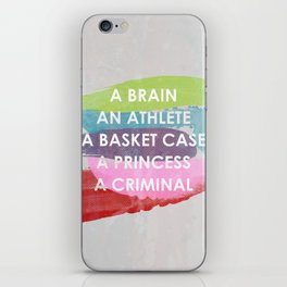Sincerely yours, The Breakfast Club. iPhone Skin