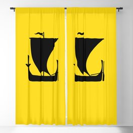flag of nordland Blackout Curtain