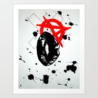 anarchy Art Prints featuring Anarchy by Mike Lampkin