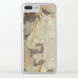 Horse in Stone Clear iPhone Case
