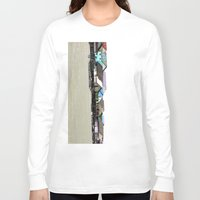 thailand Long Sleeve T-shirts featuring houses in thailand by habish