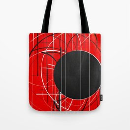 Black Dot Sticker Abstract Tote Bag