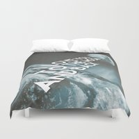 i love you to the moon and back Duvet Covers featuring I love you to the moon and back by cafelab