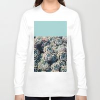 succulents Long Sleeve T-shirts featuring Succulents by Leah Flores